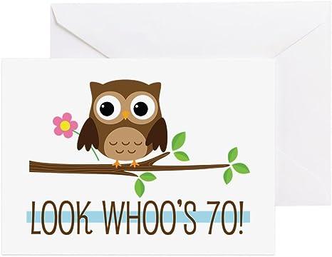 Amazon.com: CafePress – 70th Tarjeta de felicitación de ...