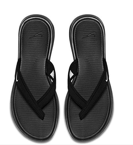 e0576b7e564d Galleon - Nike Womens Celso Thong Plus Sandal Black White 6
