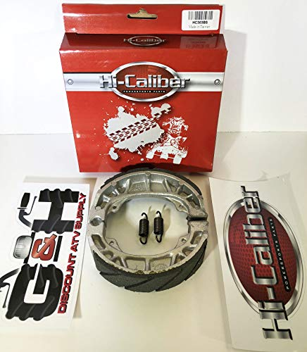 WATER GROOVED Front Brake Shoes and Springs for the Honda ATC 200 200M 200S 200E 200ES BIG RED ()