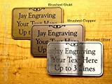 4x6 Custom Engraved Brushed Metal Plastic Office Suite Sign | Name Plate | Wall or Door Plaque | Adhesive Backed Business Home Office Receptionist Unit Condo Apartment Restroom Laundry Signs Placard
