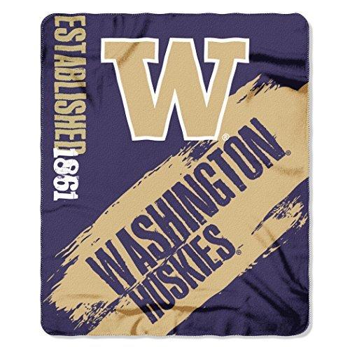 Northwest COL 031 NCAA Washington Huskies Painted Printed Fleece Throw Blanket, 50