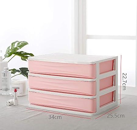 YXWa Carpetas Caja de Almacenamiento de cajones pequeños de Escritorio de Oficina pequeña Caja de consolidación de Documentos de Archivos domésticos Simples Caja de Archivo (Color : Pink): Amazon.es: Hogar