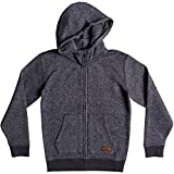 Quiksilver Big Boys' Keller Zip Youth Polar Fleece Sweatshirt, Dark Grey Heather, L/14