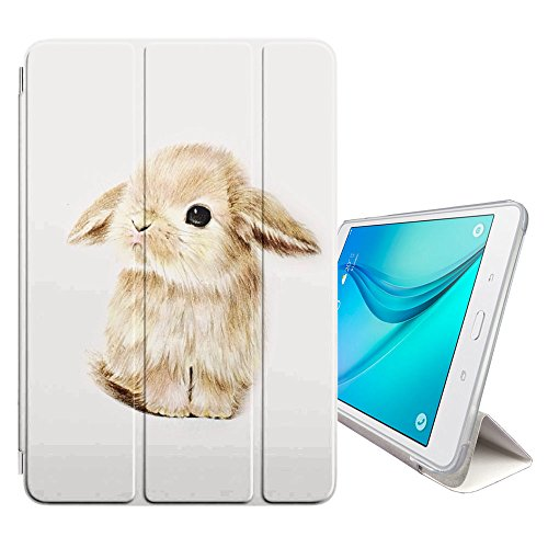STPlus Baby Rabbit Bunny Animal Smart Cover With Back Case + Auto Sleep/Wake Function + Stand for Samsung Galaxy Tab A 8.0