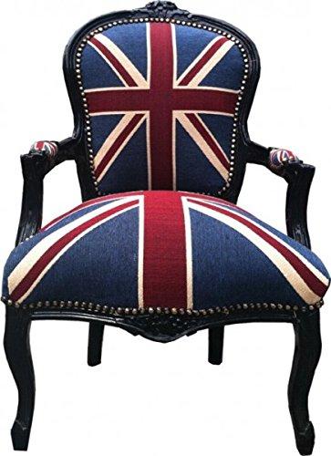 Baroque salon chair design Union Jack / Black: Amazon.co.uk: Kitchen ...