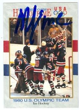 - Mike Eruzione autographed hockey card (1980 USA Hockey) 1991 Impel #66 Miracle on Ice Celebration