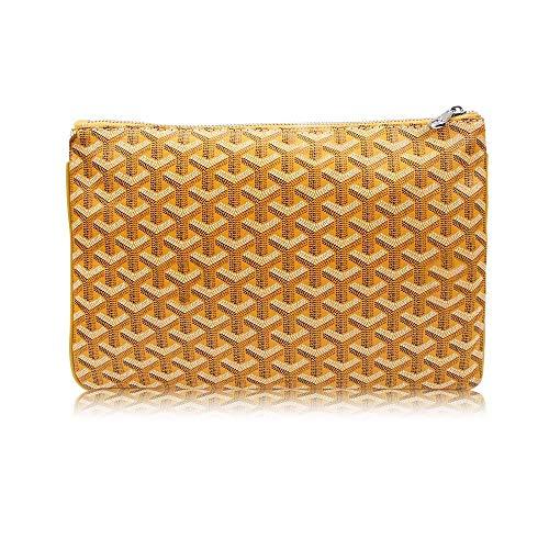 Stylesty Designer Clutch Purses for Women, Pu Envelope Fashion Clutch Bag, Women Handbag (Large, Yellow)