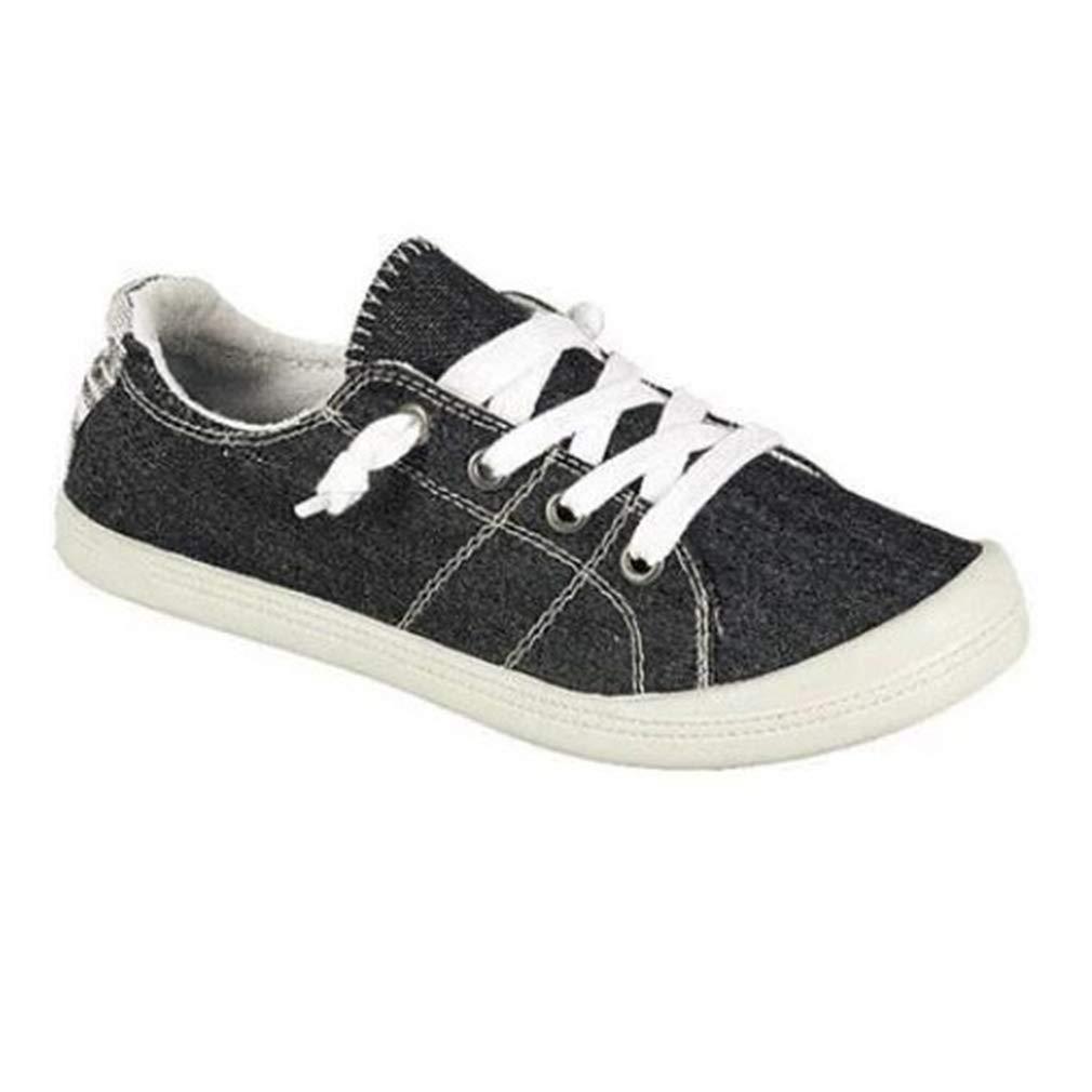 Juleya Chaussures Cuir de Sport en Cuir à Flat Lacets Plimsoll Noir Flat Walking pour Femmes Noir 60127b5 - fast-weightloss-diet.space