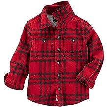 OshKosh B'Gosh Boys' Long Sleeve Woven Button-Front Shirt