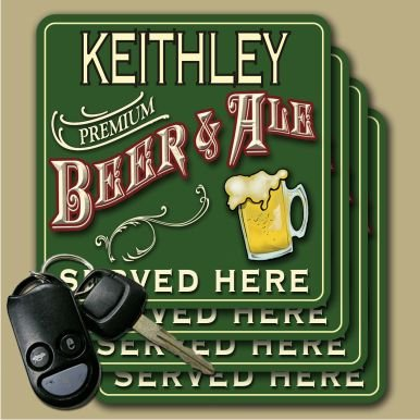 Keithley Premium Beer   Ale Coasters   Set Of 4