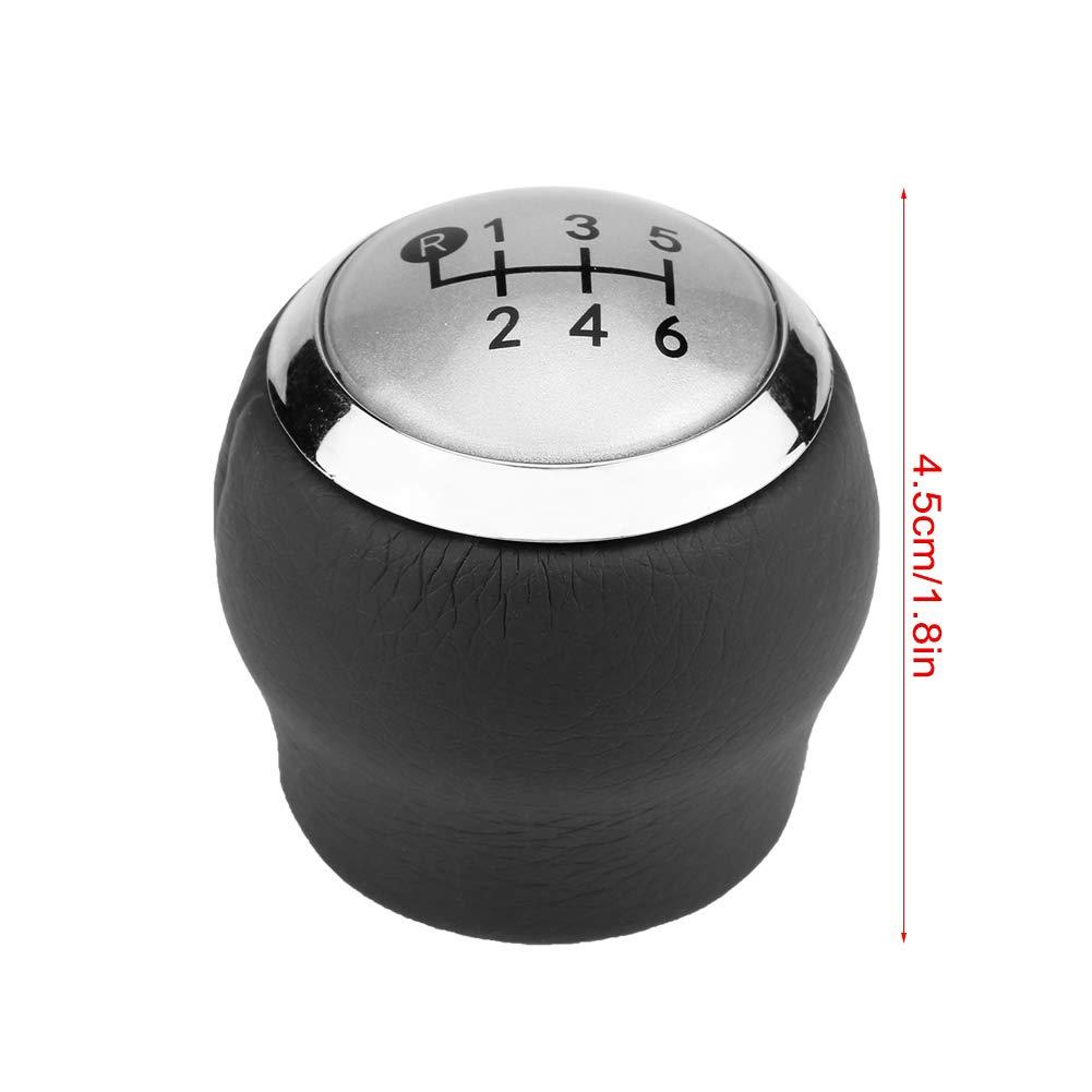 Elerose Pomo de la palanca de cambios de la palanca de cambios de 6 velocidades del autom/óvil