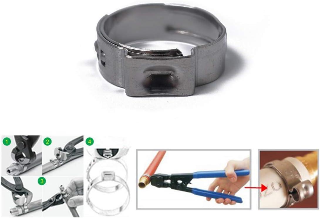 collier de serrage hydraulique pour gamme de tailles de 7 /à 23,5 mm Garneck Assortiment de colliers de serrage en acier inoxydable 80Pcs colliers de conduite de carburant