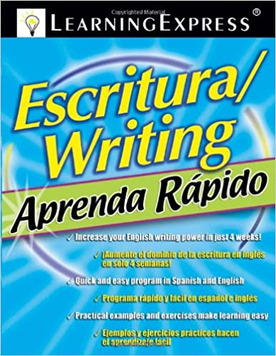 Aprenda Rapido: Escritura/Writing (Aprenda Rapido (Learn Quickly)) Bilingual Edition