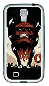 Samsung S4 Case Red Skull TPU Custom Samsung S4 Case Cover White