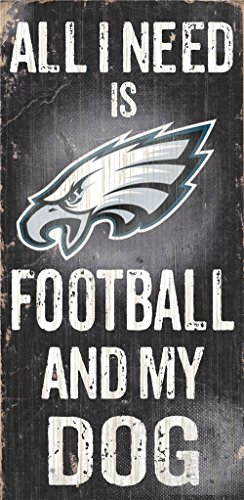 Hall of Fame Memorabilia Philadelphia Eagles Wood Sign - Football and Dog 6