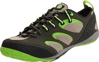Merrell Men's Barefoot True Glove Running Shoe-1,Deep Olive/Kryptonite,8 M US
