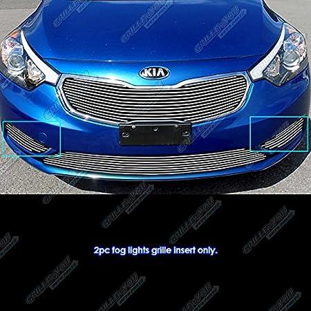 APS Fits 2014-2015-6 Kia Forte Fog Lights Cover Billet Grille Inserts #K65965A