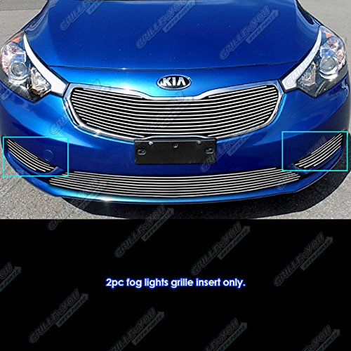 Billet Cover Inserts (Fits 2014-2015-6 Kia Forte Fog Lights Cover Billet Grille Inserts #K65965A)