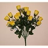 18 Fiori artificiali rose gialle per matrimoni o funerali
