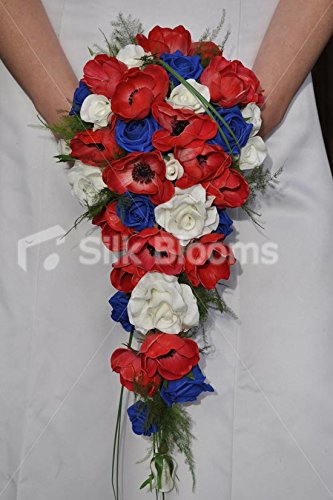 Amazon Red White Blue Fresh Touch Anemones Roses Cascade