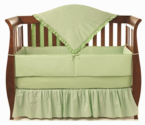 American Baby Company Heavenly Soft Minky Dot 4-Piece Crib Bedding Set, Celery by American Baby Company