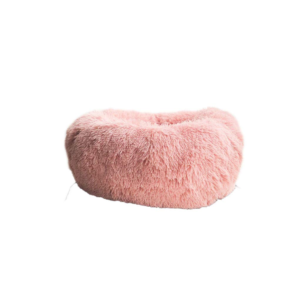 Pink Deep Sleep Kennel Cat Litter Round Plush Autumn And Winter Nest Pad Cat Mattress Small And Medium Dog Suede Seasons (color   Pink)