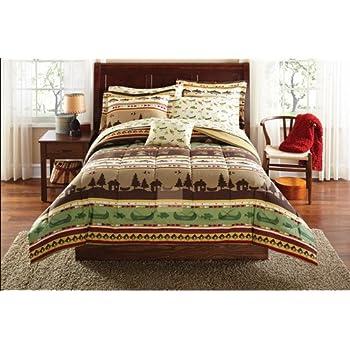 Amazon Com Southwest Cabin Bear King Comforter Set 8