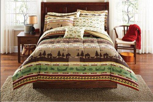 e, Canoe Full Comforter Set (8 Piece Bed In A Bag) (Cabin Canoe)