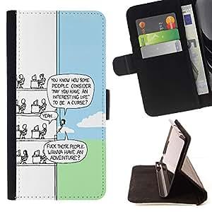 Momo Phone Case / Flip Funda de Cuero Case Cover - Funny Cartoon;;;;;;;; - Samsung Galaxy J3 GSM-J300