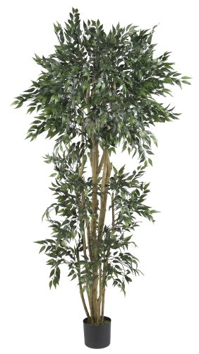 Nearly Natural 5285 Ash Silk Tree, 6-Feet, Green by Nearly Natural
