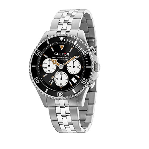 SECTOR Men's '230' Quartz Stainless Steel Casual Watch, Color Silver-Toned (Model: R3273661010)