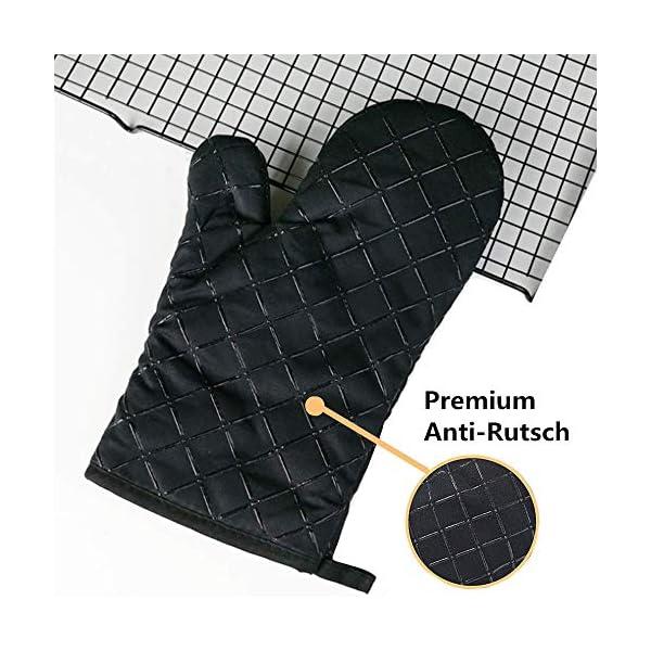 Set da 2 guanti da forno antiscivolo di qualità, resistenti fino a 240°C, in silicone, estremamente resistenti al calore… 3 spesavip