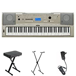 Yamaha YPG-235 76-Key Portable Grand Piano with Yamaha Bench, Stand, and Power Adapter