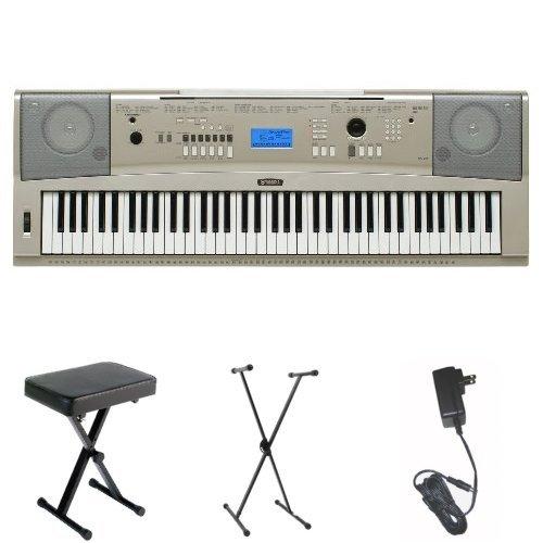 Yamaha YPG-235 76-Key Portable Grand Piano with Yamaha Bench, Stand, and Power Adapter by Yamaha