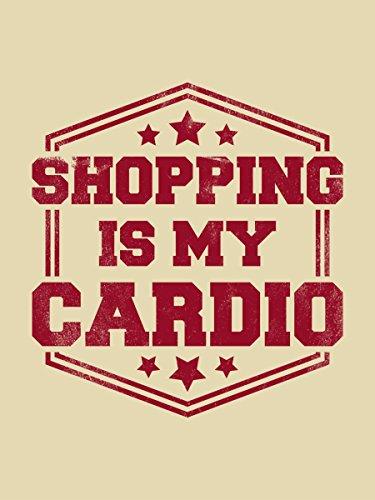 Borsa Tote Shopping Is My Cardio 38 x 42 cm in crema Imágenes Tienda De Descuento Despacho Perfecto Venta Mejor Lugar Última Línea Barata STn7Kv9RYO