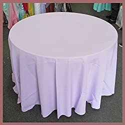 Newstar Tablecloth Round 132 inches Poly Poplin/Polypoplin / Polyester/Gabardine / Linens, Lilac, For Wedding and Party Supplies, Tablecloth Cover …