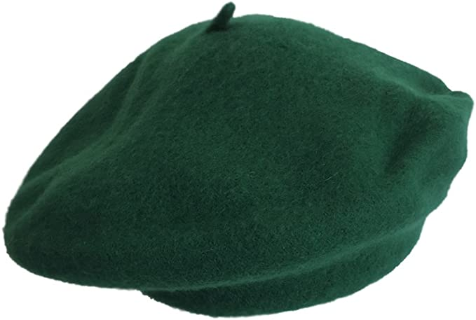 Jacobson Hat Company Classic 100/% Wool Green French Beret