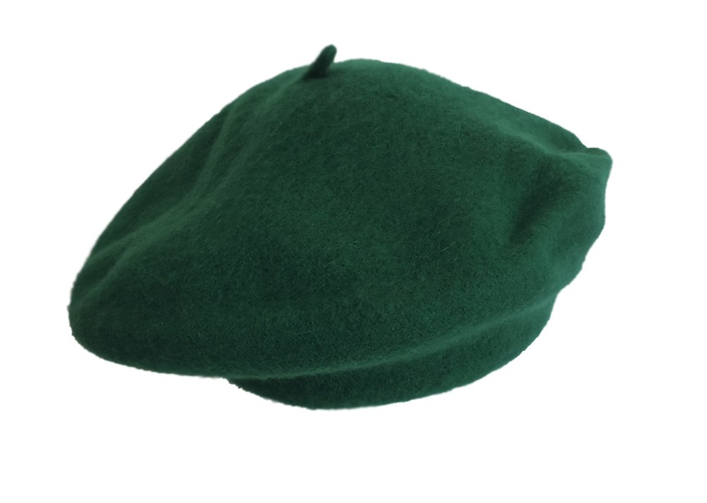 100% Wool Kelly Green Beret French Parisian Hat by Jacobson Hat Company (Image #2)