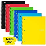 Five Star Spiral Notebook, 1 Subject, Graph Ruled Paper, 100 Sheets, 11 x 8-1/2 inches, Color Selected For You, 1 Count (06190)