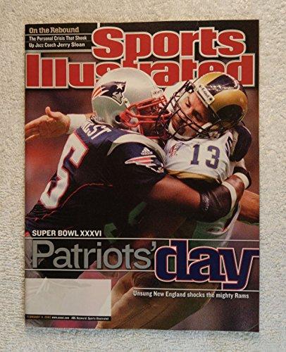 Willie McGinest - New England Patriots - Super Bowl XXXVI Champions! - Sports Illustrated - February 11, 2002 - Kurt Warner, St Louis Rams - SI (2002 Super Bowl Champions)
