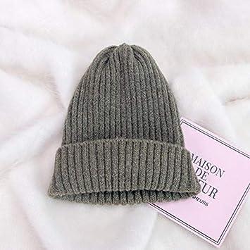 Yukun Gorro de lana Sombrero De Punto Sombreros De Otoño E Invierno Color  Sólido Salvaje Estudiante Algodón Sombrero De Luna De Los Hombres Femeninos  ... 5fdc3d252e9