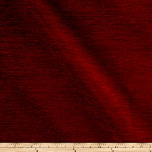 - Fabric Backed Upholstery Chenille Solid, Cinnabar