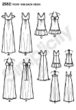 Simplicity Day-Evening Pattern 2582 Misses Dress in 3 Lengths with Bodice Variations Sizes 6-8-10-12-14
