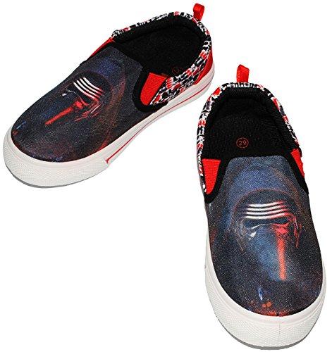 "Canvas Schuhe / Sneaker - Größe 35 - "" Star Wars - Kylo Ren "" - mit Profilsohle - Sportschuhe & Turnschuhe / Leinenschuhe - rutschfeste Schuhe Schuh / für Kinder - Jungen / Hausschuhe Gartenschuhe - S"