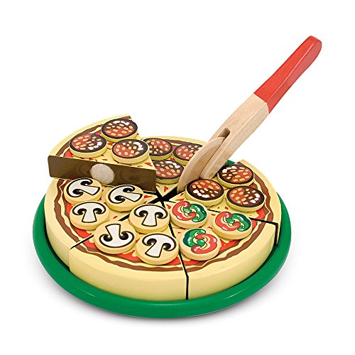 Melissa & Doug Pizza Party Wooden Play Food Set With 54 Toppings by Melissa & Doug (Image #3)