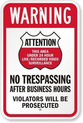 Atención esta zona bajo 24 hora Live/cartel de vigilancia de ...
