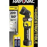 Rayovac DIYSW4AA-BXA Virtually Indestructible Swivel Flashlight, Black