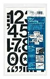 Chartpak Self-Adhesive Vinyl Numbers, 2 Inches High, Black, 12 per Pack (01150)