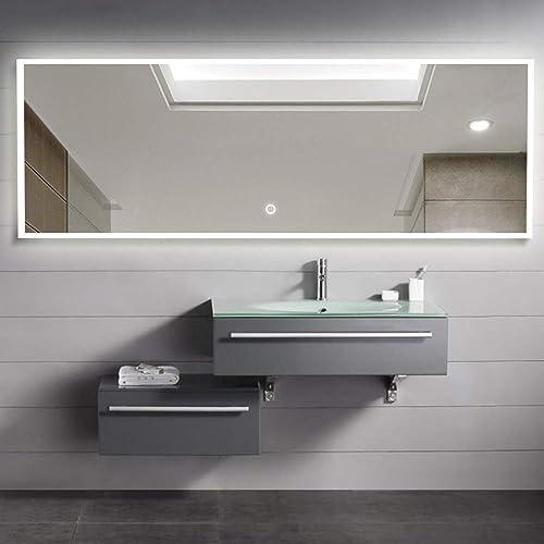 NeuType LED Mirror Full Length Dressing Mirror Oversized Rectangle Large Bedroom Bathroom Living Room Mirror
