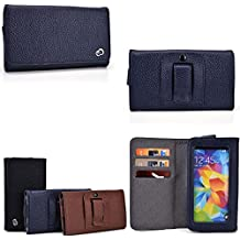 PU leather cell phone holder- Unisex design in Midnight Blue- Universal design compatible w/ the following models: LG Lucid 3 VS876